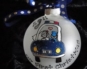 POLICE OFFICER Personalized Ornament Of The Newlyweds in a Squad Car Just Married