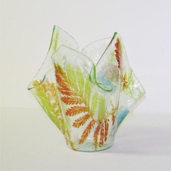 Fossil Ferns - Fused Glass Vase