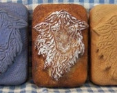 Scruffy Sheep Primitive Silicone Soap Mold Prim Lamb