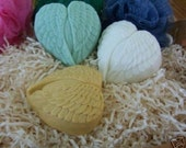 My Heart has Wings Angel Feathers Winged Heart Silicone Soap Wedding Bath Bombs Mold Handmade DIY Craft Molds High Quality