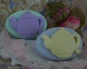 Tea Pot High Tea Silicone Soap Mold Wedding Favors Tea Party