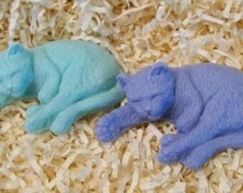 Sleeping Kitty Cat Silicone Soap Mold Original Design