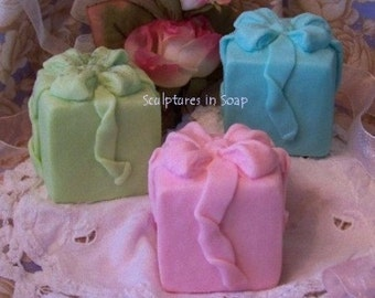 Gift Present Ribbons Silicone Soap Mold DIY Wedding Baby Shower Favors Christmas Holiday Candle Mold