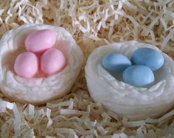 Birds Nest with 3 Eggs Silicone Soap Mold Candle Mold Baby Bird Mothers Day Baby Shower Favors DIY Craft Molds