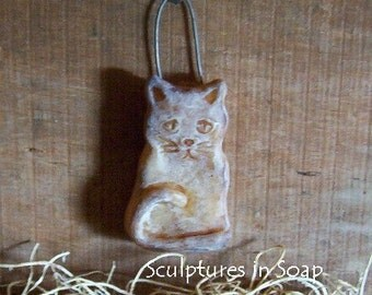 Cat Sitting Prim Halloween Silicone Soap Wax Mold Kitty Beeswax Primitive Holiday Animal Pets DIY Craft Molds High Quality