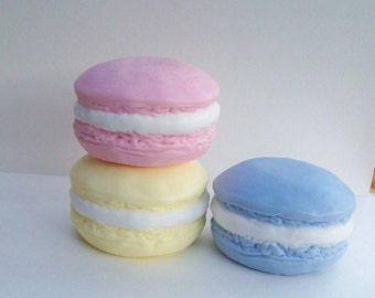 French Macaron Silicone Soap Mold Faux Food DIY Craft Molds Candle Mold by Artist Debra Alouise