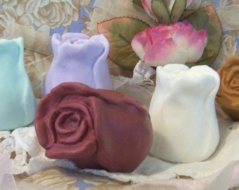 Rose Blooming Flower Roses Bud Silicone Soap Mold Candle Mold Original DIY Craft Molds Mothers Day Wedding Favors