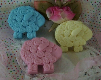 Curly Baby Lamb Sweet Sheep Silicone Soap Mold Bath Bomb Fizzies Mold Wax Mold DIY Craft Molds Cute Animals