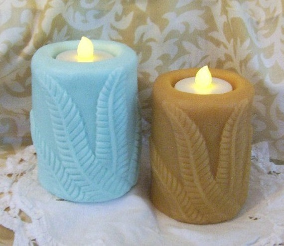 Botanical Fern Silicone Candle Mold Garden Candle Flicker or Solid Candle Mold