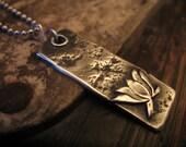 Awaken - Silver Lotus Necklace Flower Pendant Mud Awakening Blossom