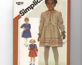 Child's Dress and Vest Pattern 5774