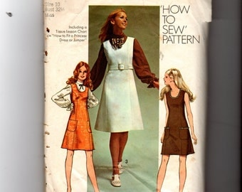 Vintage Young Junior/Teen Jumper or Dress Pattern 9235