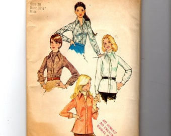 Vintage Misses' Shirt and Ascot Tie Pattern 5802
