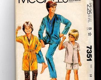 Boy's and Teen Boy's Robe and Pajamas 7351