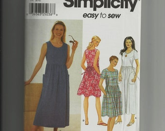 Simplicity Misses Dress Pattern 9743