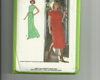 Vintage Simplicity Misses' Pullover Dress Pattern 8981