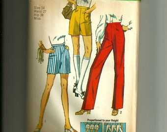 Vintage Simplicity  Misses Pants in Two Lengths Pattern 9416