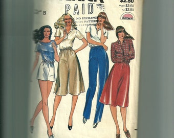 Butterick Misses' Pants, Culottes, Shorts, and Skirt Pattern 3745