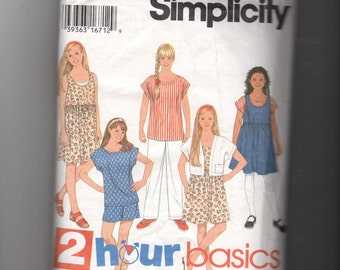 Simplicity Girl's Pants, Shorts, and Jumper Pattern