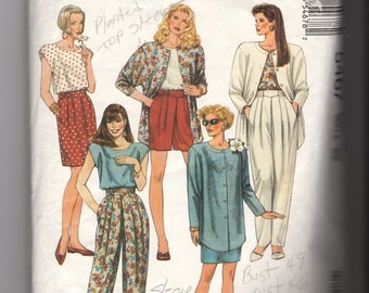 McCall's Misses Jacket Top Skirt and Pants Pattern