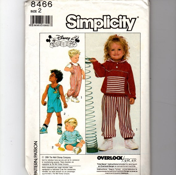 Toddlers' Knit Romper Pattern 8466
