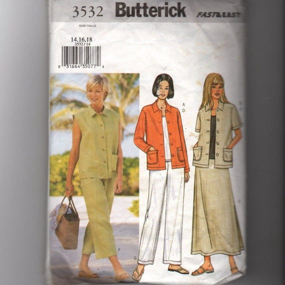 Butterick Misses Petite Skirt and Top Pattern 3532