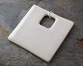 Large Square Pendant in Cream