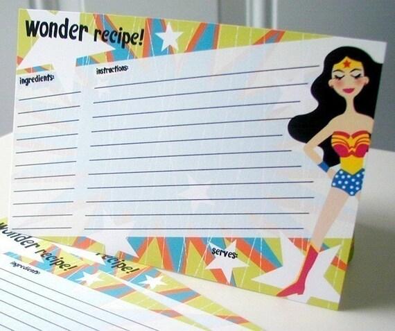 Wonder Recipe Cards