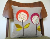 Fushia Lollipop Pillow, Linen