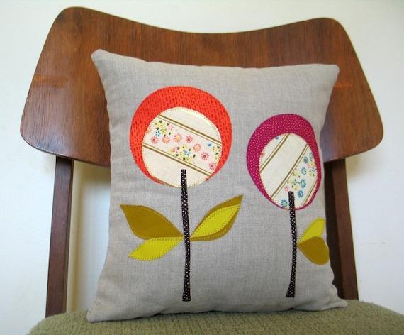 Fushia Lollipop Pillow, Linen