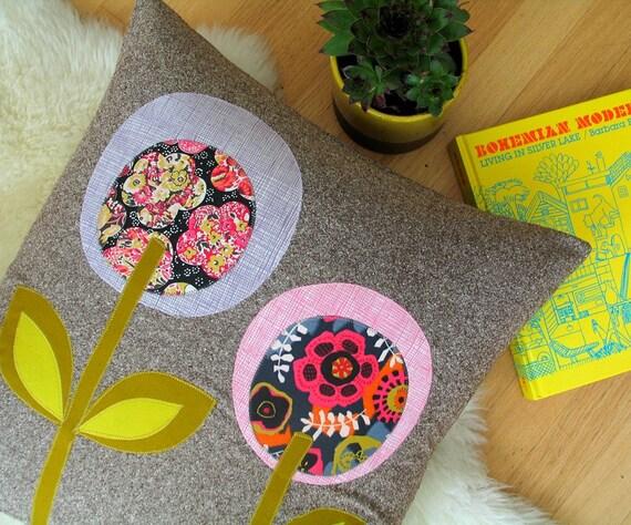 Summer Lollipop Flower Pillow, 20 x 20, Liberty Prints
