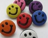 Happy Faces plastic buttons