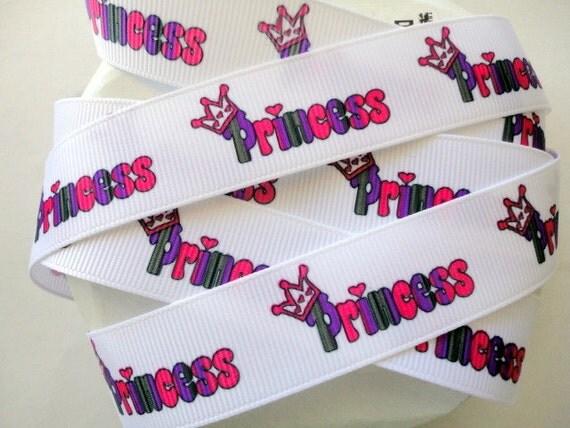 """7/8"""" Princess grosgrain ribbon 3 yards"""