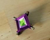 God's Eye Pin in Purple, Lavender and Lime Green