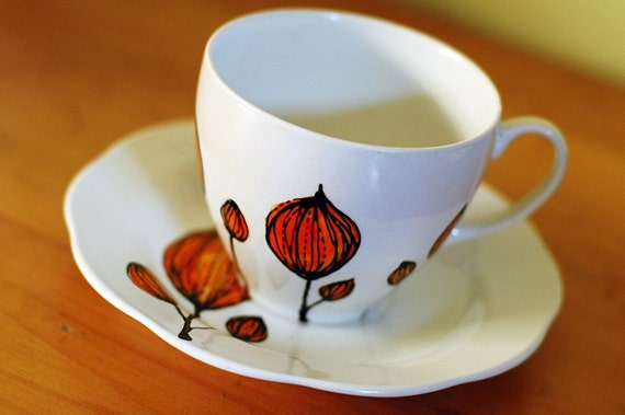 Upcycled Blossom Cup and Saucer