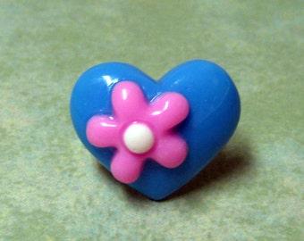 Blue Heart Ring