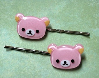 Pink Bears Hairpins