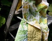 Upcycled Baby Quilt-Lemons and Limes -10