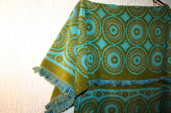 Vintage Towel Swimsuit Cover Up Bath Robe Upcycled Towels