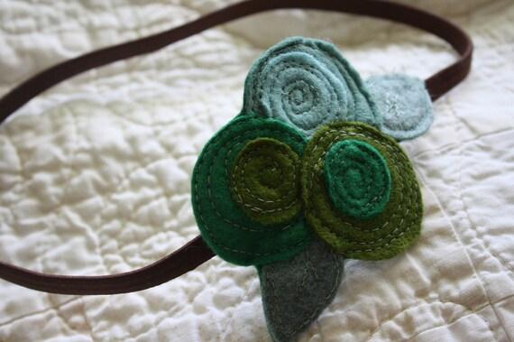 The Little Garden Bloom- Felt Headband