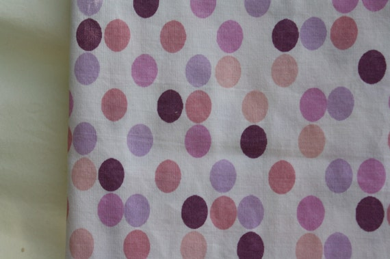 Purple and Pink Polka Dots- Reclaimed Fabric