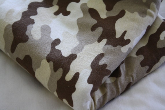 Jersey Camo Fabric-Earthy Brown Colors
