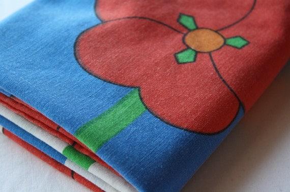 Vintage Pillowcase -Retro Flower Power