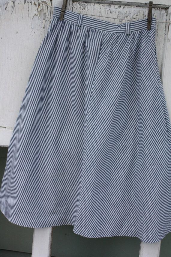 Vintage A Line Cotton Skirt