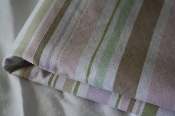 Striped Fabric-Reclaimed Bed Linen Fabric-Ice Cream