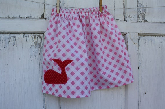 Whale Skirt-Wee Ones Eco Friendly Reclaimed Fabrics