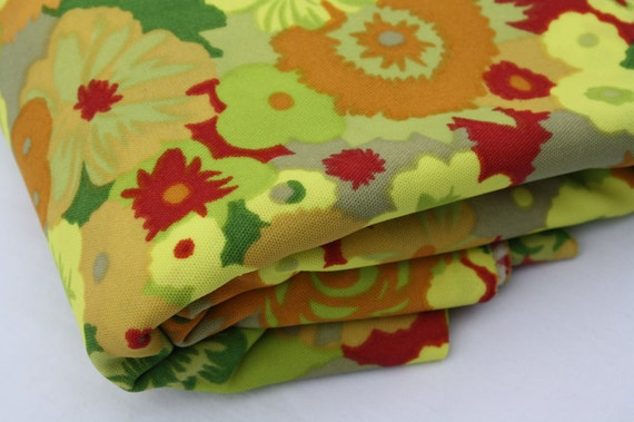 Vintage Floral Polyester Fabric
