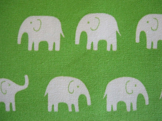 japanese cotton canvas elephant fabric, green