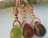GRAPE TRIO - Copper Stitch Marker Set - Choose Your Colors - 3 Different or 3 of a Kind