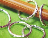 Handmade Sterling Ring Stitch Markers - Set of 5 - US10
